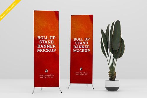 X Standee Banner Mockup