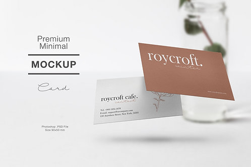 Mockup Business Card Flying