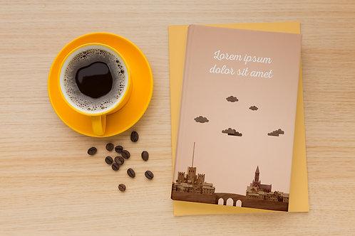 Mockup sách và cafe