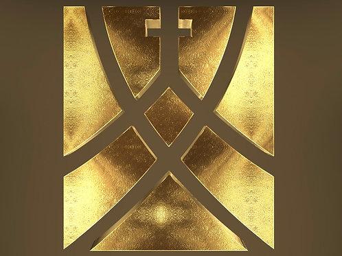 3D Golden Text Logo Effect Photoshop