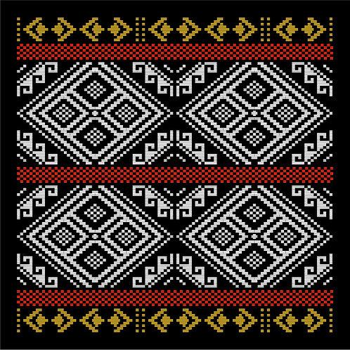 Hoa văn dân tộc pixel 003