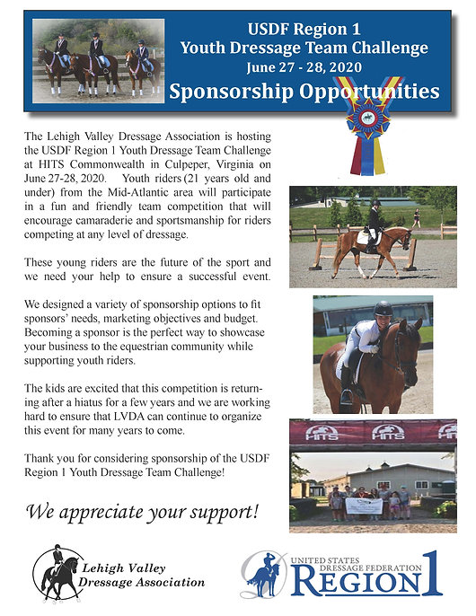 Youth Team Challenge Sponsorship Packet
