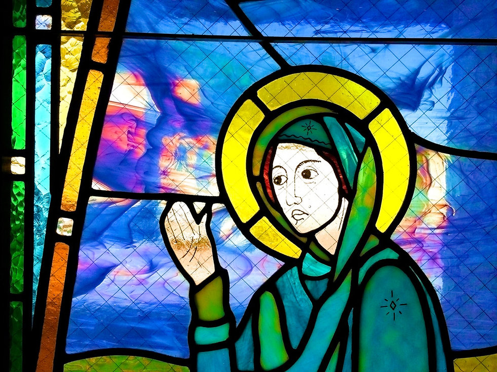 saint mary, st mary's, virgin mary stained glass, modern, episcopal church phoenix az, episcopal churches glendale az, episcopal church peoria az, episcopal church near me, churches in phoenix, welcoming, inclusive, friendly, affirming, accepting, love