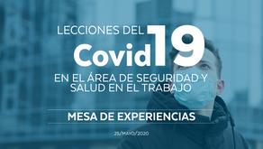 Mesa de experiencias: lecciones del Covid-19 en el área de seguridad y salud en el trabajo.