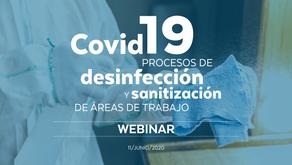 Covid-19: procesos de desinfección y sanitización de áreas de trabajo