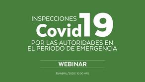 Inspecciones Covid-19 por las Autoridades en periodo de emergencia