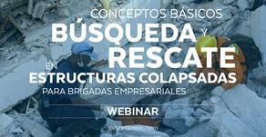 Conceptos básicos de búsqueda y rescate en estructuras colapsadas para brigadas empresariales