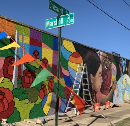 Shreveport Downtown Development Authority - LEADERS OF TOMORROW MURAL-1533 MARSHALL
