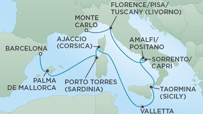 Seven Seas Voyager * Jul 6,-2019 * Monte Carlo to Barcelona * 10 nights