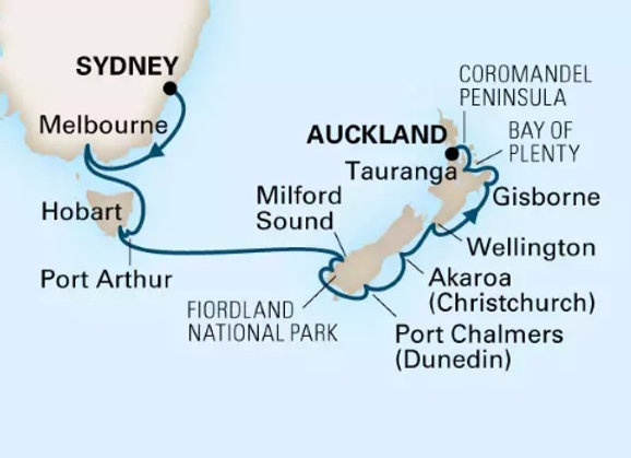 Noordam * Feb 26,-2019 * Sydney to Auckland * 15 Nights