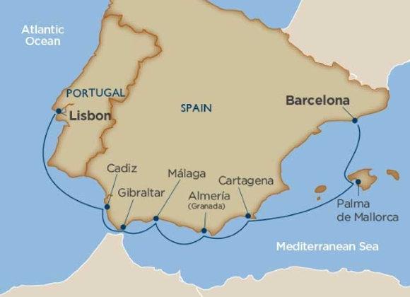 Wind Surf * Oct-29-2019 * Barcelona to Lisbon * 8 Nights