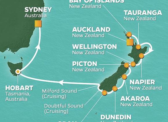 Azamara Journey * Feb 8,20-2020 * Auckland to Sydney * 15 Nights