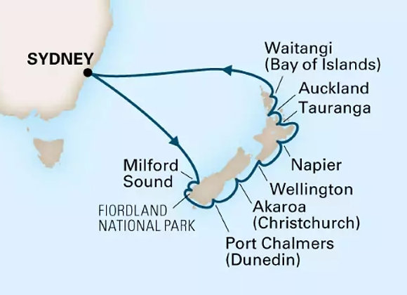 Noordam * Jan 18,-2020 * Sydney to Sydney * 14 Nights