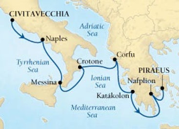 Seabourn Encore * Oct-14-2019 * Rome to Athens * 7 Nights