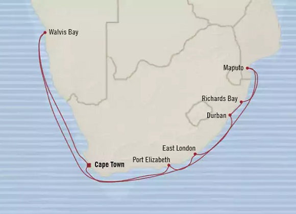 Nautica * Jan 20,-2019 * Cape Town to Cape Town * 14 Nights