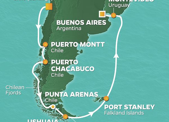 Azamara Pursuit * Feb 4,2020 * Santiago to Buenos Aires * 15 Nights