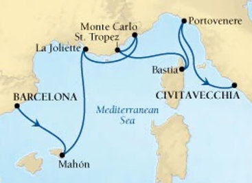 Seabourn Encore * Sep-19-2019 * Barcelona to Rome (Civitavecchia) * 7 Nights