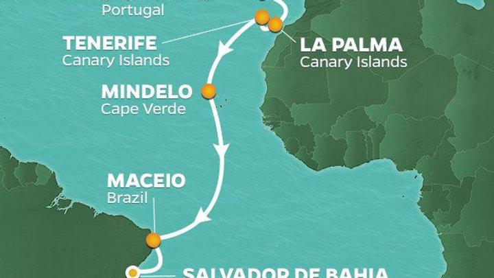 Azamara Pursuit * Nov-13-2019 * Lisbon to Rio de Janeiro * 17 nights