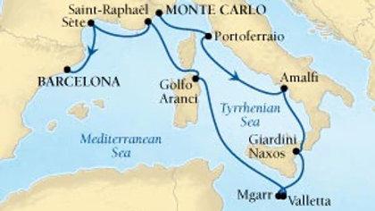 Seabourn Encore * Sep-09-2020 * Monte Carlo to Barcelona * 10 nights