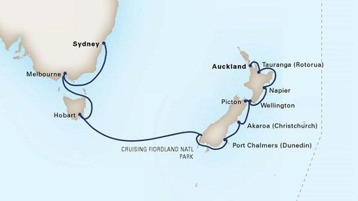 Noordam * Mar 19,-2020 * Auckland to Sydney * 14 nights