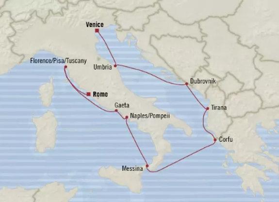 Nautica * Nov-07-2019 * Venice to Rome (Civitavecchia) * 10 Nights