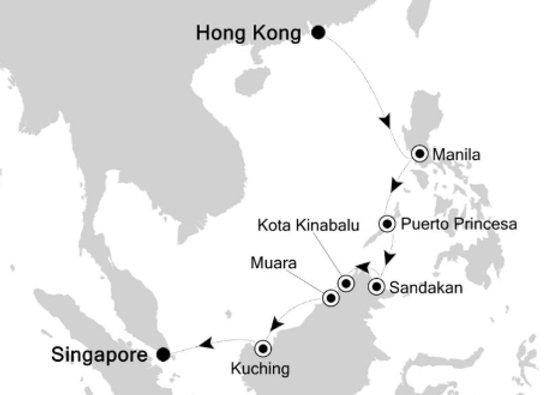 Silver Spirit * Dec-21-2019 * Hong Kong to Singapore * 14 Nights