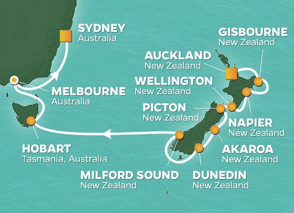 Azamara Journey * Mar 9,-2020 * Auckland to Sydney * 15 Nights