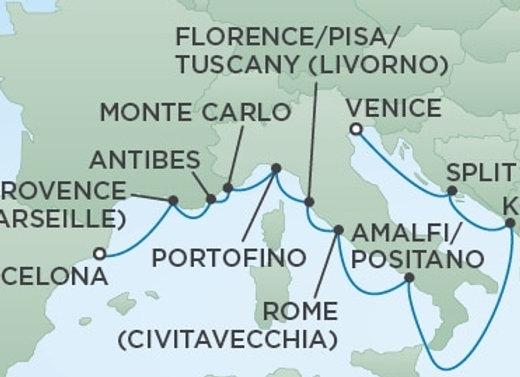 Seven Seas Voyager * Jul 16,-2020 * Barcelona to Venice * 12 Nights