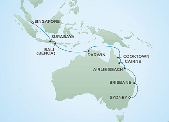 Seven Seas Mariner * Mar 1,-2020 * Sydney to Singapore * 18 Nights