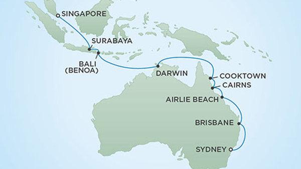 Seven Seas Mariner * Mar 1 2020 * Sydney to Singapore * 18 nights