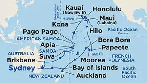 Sea Princess * Apr 7,-2020 * Sydney to Sydney * 35 nights