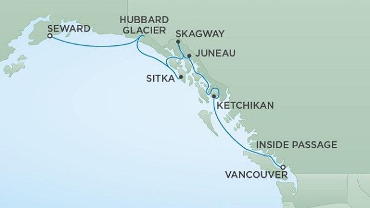 Seven Seas Mariner * Jul 15,-2019 * Vancouver to Anchorage (Seward) * 7 nights