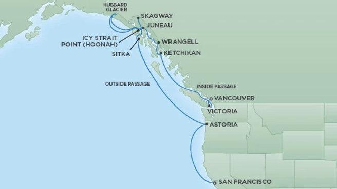 Seven Seas Mariner * Jun 4,-2019 * San Francisco to Vancouver * 13 nights