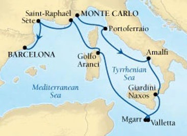 Seabourn Encore * Sep-09-2019 * Monte Carlo to Barcelona * 10 Nights