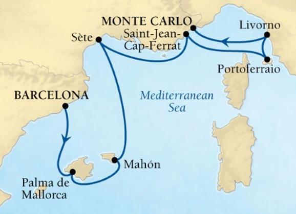 Seabourn Ovation * Oct-23-2019 * Barcelona to Monte Carlo * 7 Nights