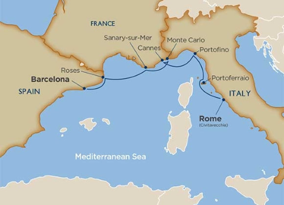 Wind Surf * Oct-22-2019 * Rome (Civitavecchia) to Barcelona * 7 Nights