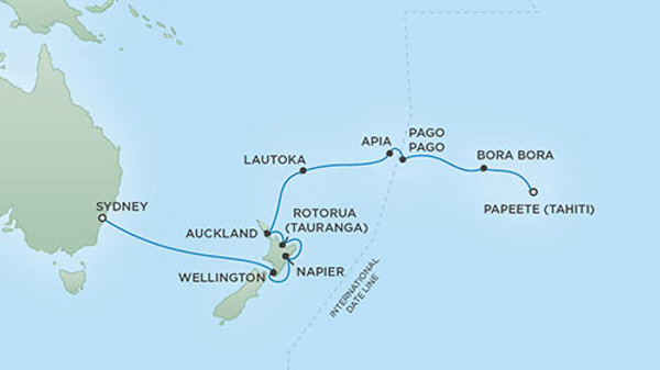 Seven Seas Mariner * Feb 11,-2020 * Papeete to Sydney * 18 nights