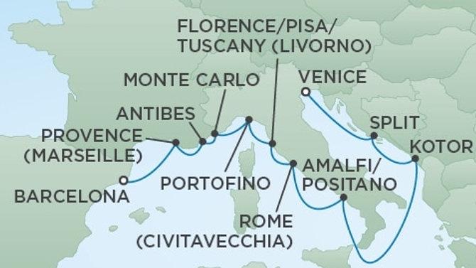 Seven Seas Voyager * Jul 16,-2019 * Barcelona to Venice * 12 nights
