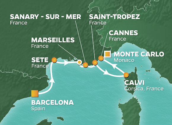 Azamara Journey * Sep-14-2019 * Barcelona to Monte Carlo * 7 Nights