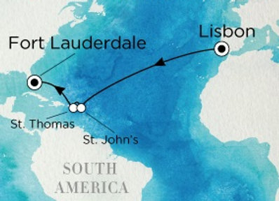 Crystal Serenity * Nov-12-2019 * Lisbon to Fort Lauderdale * 12 Nights