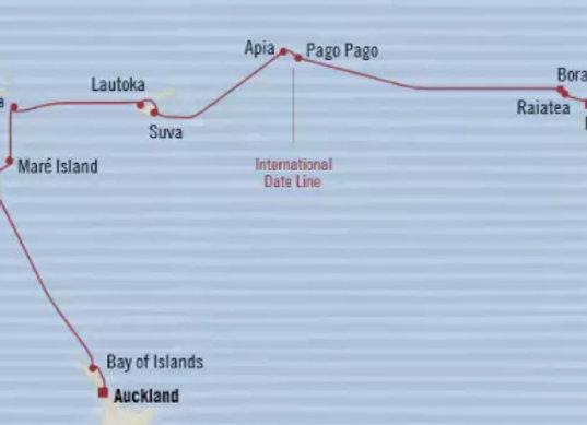 Regatta * Feb 17,-2020 * Auckland to Papeete * 18 Nights