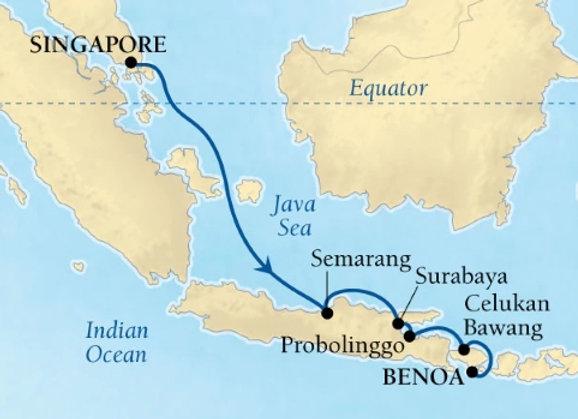 Seabourn - 7 Nights - DEPARTS - 27/Nov/19 - Benoa, Bali