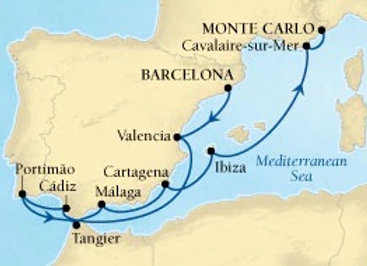 Seabourn Encore * Aug-29-2019 * Barcelona to Monte Carlo * 11 Nights