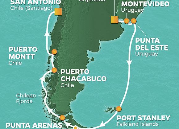 Azamara Pursuit * Jan 20,2020 * Buenos Aires to Santiago * 15 Nights