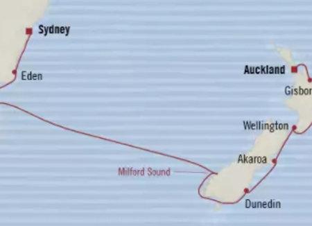 Regatta * Jan 20,-2020 * Auckland to Sydney * 14 Nights
