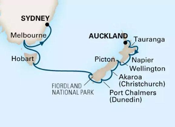 Noordam * Nov-23-2019 * Auckland to Sydney * 14 Nights