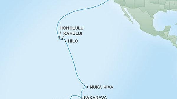 Seven Seas Mariner * Jan 24,-2020 * San Francisco to Papeete * 18 nights