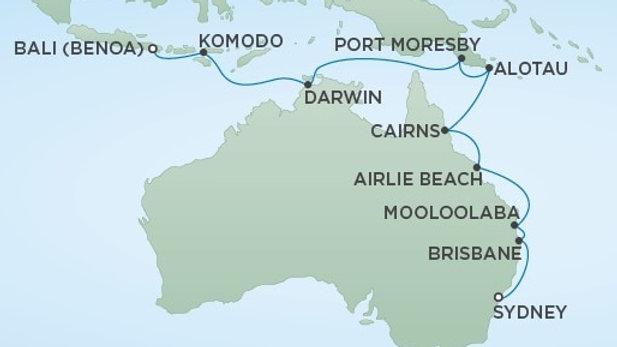 Seven Seas Navigator * Jan 23,-2020 * Sydney to Bali * 16 nights