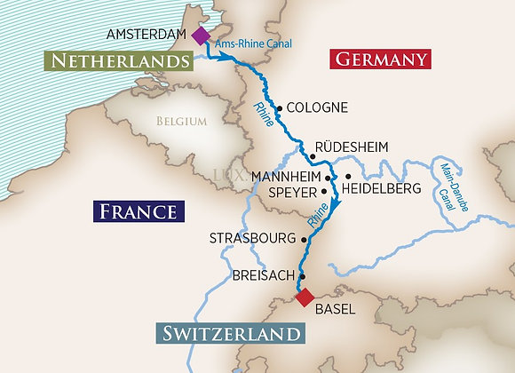 Captivating Rhine - 7 Nights - Basel to Amsterdam or reverse