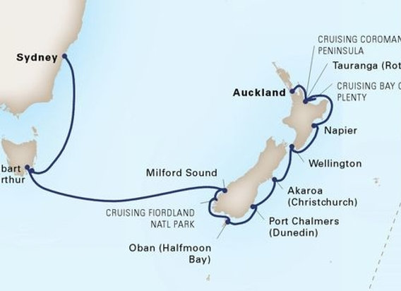 Maasdam * Feb 16,-2020 * Sydney to Auckland * 14 Nights